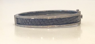 Mari Max Python Bangle - Black Jewelry