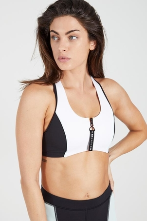 PE Nation Camber Sports Bra - White Activewear