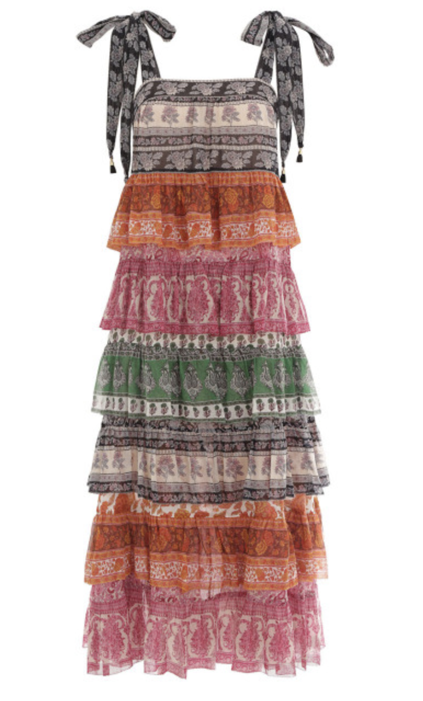 Zimmermann Zimmermann Amari Tiered Dress Spliced Dresses Sale
