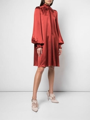 Adam Lippes Tie Neck Shirt Dress Dresses