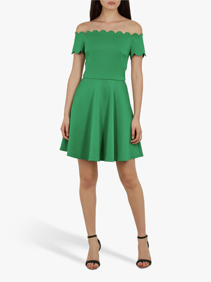 Ted Baker FELLAMA BARDOT SCALLOP SKATER DRESS Dresses