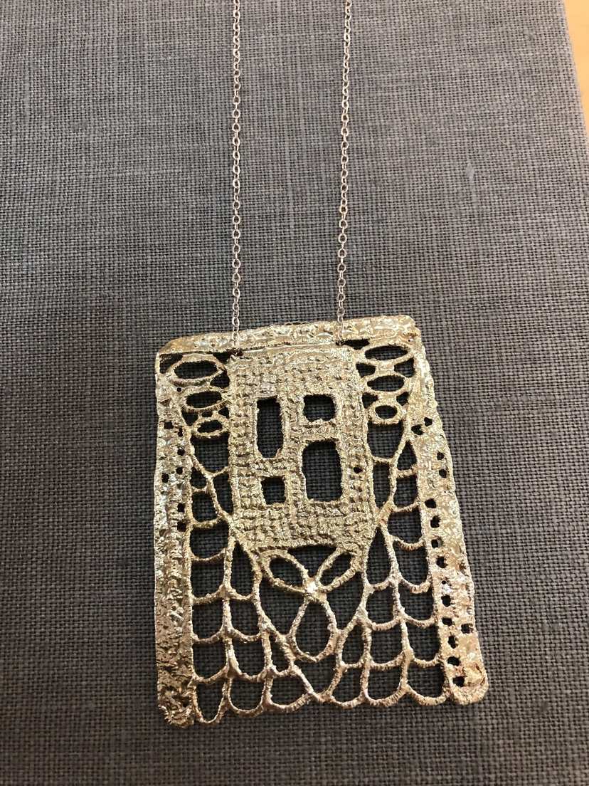 Gabrielle Jewelry Gabrielle Silver Long Square Necklace