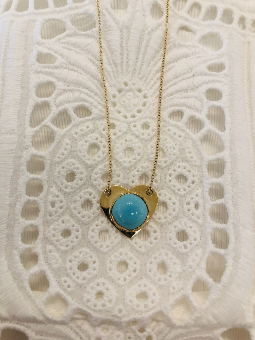Fig7 Jewelry Fig7 Jewelry Turquoise Heart Necklace