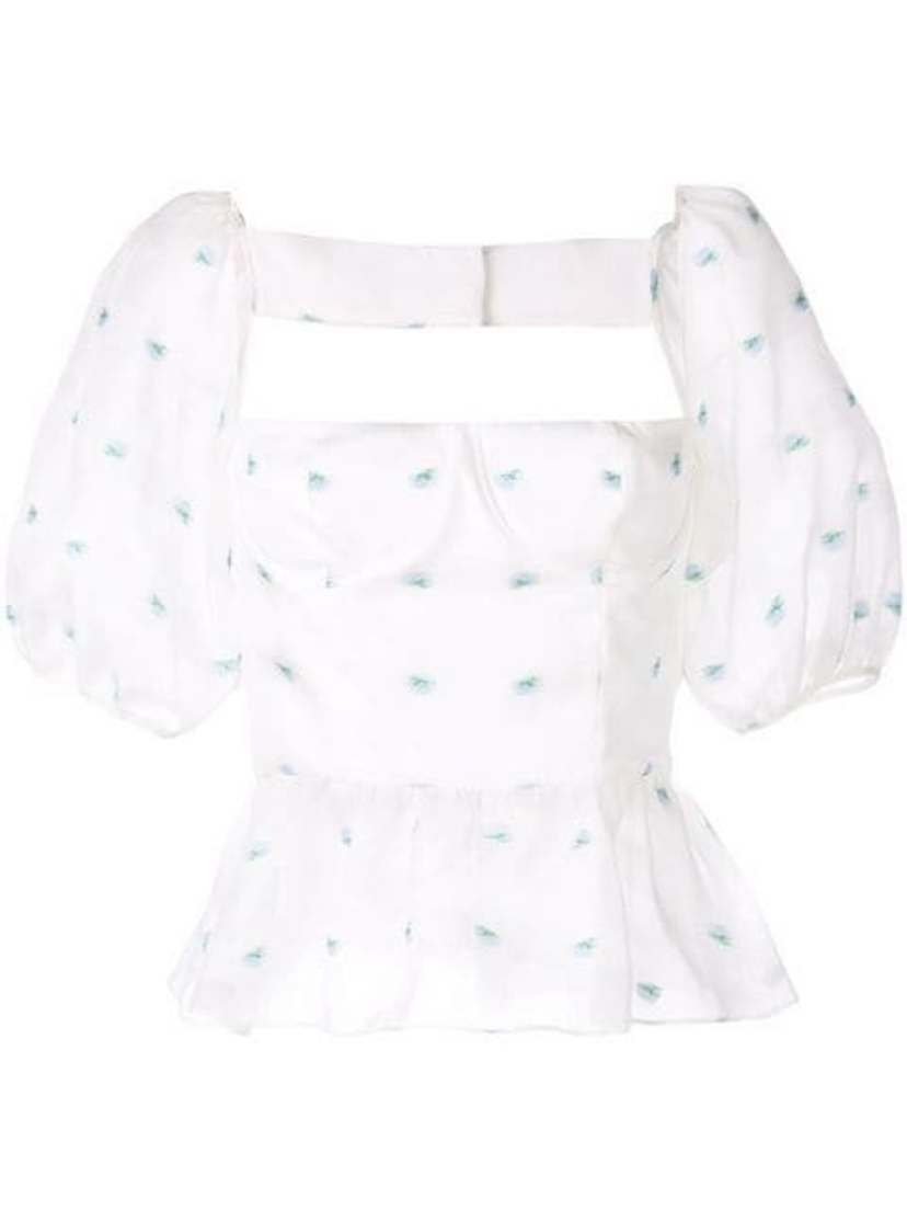 Markarian Markarian - Bingley Puff Sleeve Floral Top Tops