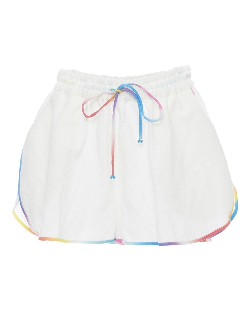A Mere Co A Mere Co - Sport Shorts with Rainbow Trim
