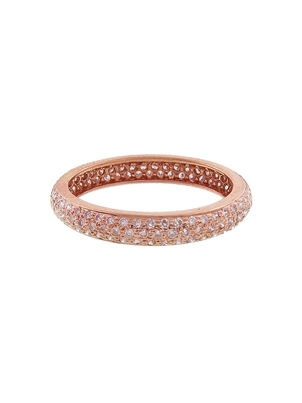 Sethi Couture Sethi Couture Wide Pavé Pink Diamond Ring - Rose Gold Jewelry