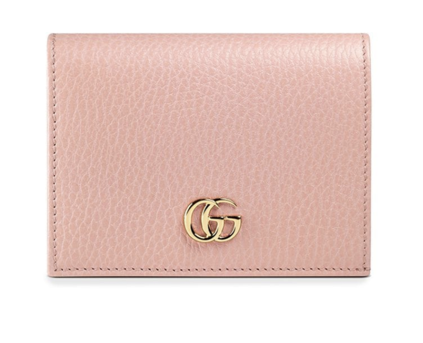 Gucci Pink Leather Card Case Bags Gifts