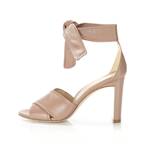 Marion Parke Leah Ankle Tie - Blush Nappa Shoes