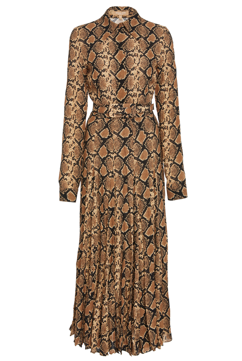 Michael Kors Collection Crushed Shirt Dress With Belt Dresses