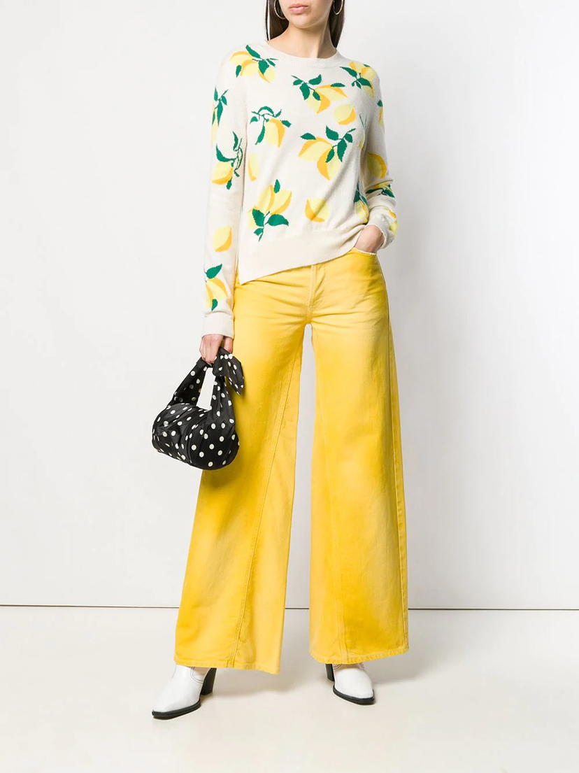 Chinti and Parker Lemon Sweater Tops