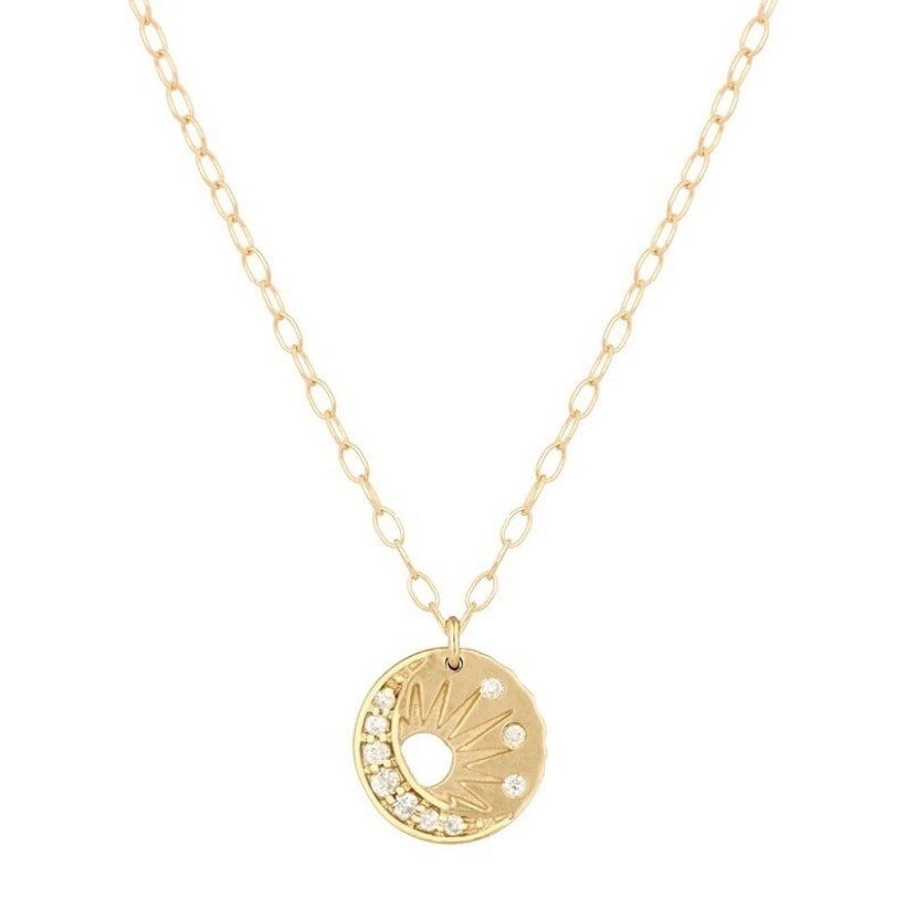 Celine Daoust Little Sun and Moon Necklace Jewelry