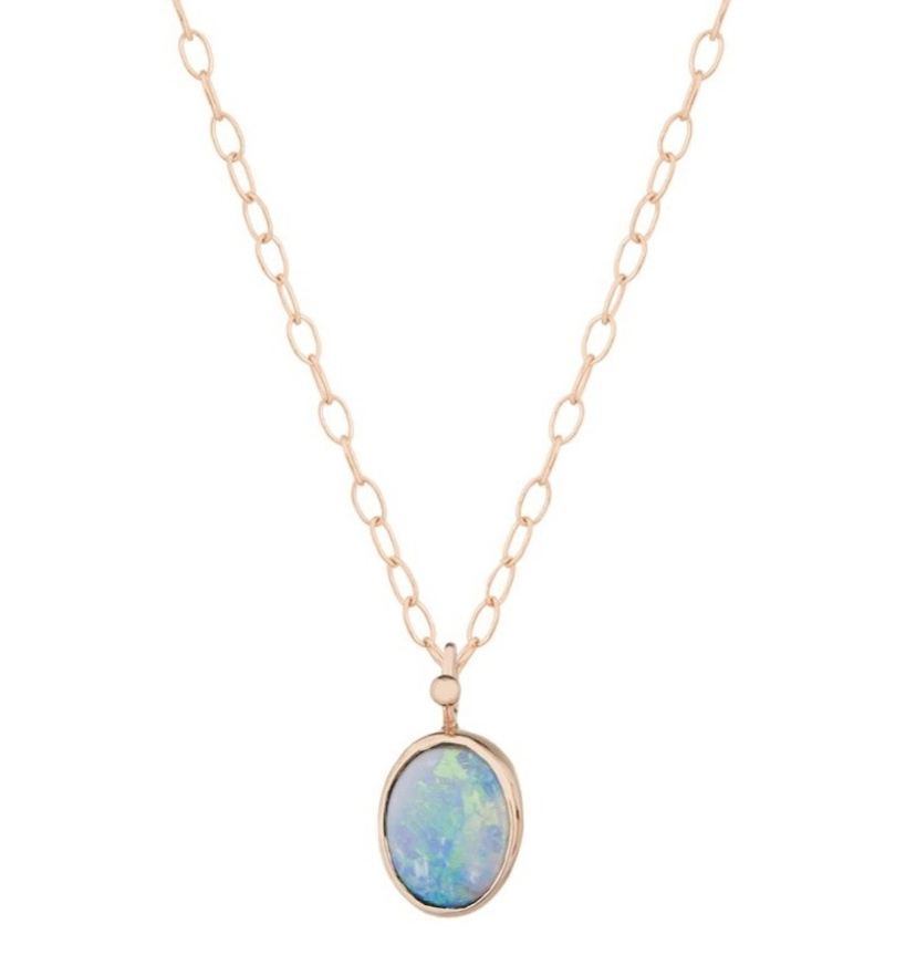 Celine Daoust Little Vivid Australian Opal Chain Necklace Jewelry