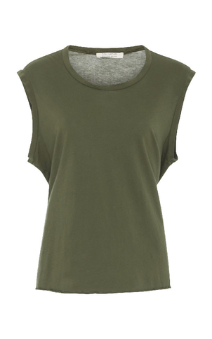 Nili Lotan Muscle Tee - Army Green Tops