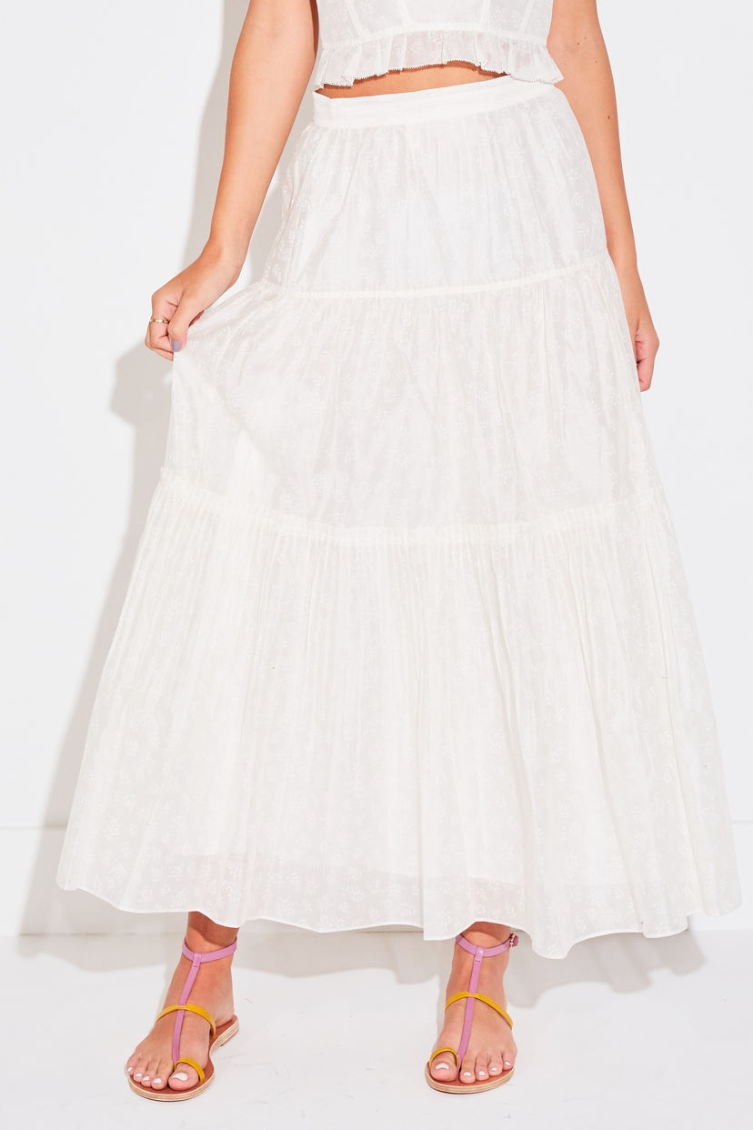 Ulla Johnson JEUNE SKIRT IN BLANC Skirts