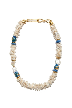 Lizzie Fortunato Laguna Necklace In Oasis Pearl Jewelry