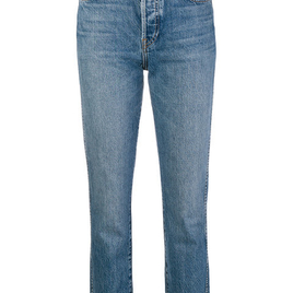 Re/Done - Medium Wash Slim-Fit Cropped Jeans