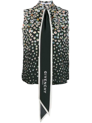 Givenchy Givenchy - Sleeveless Floral Button Top Tops