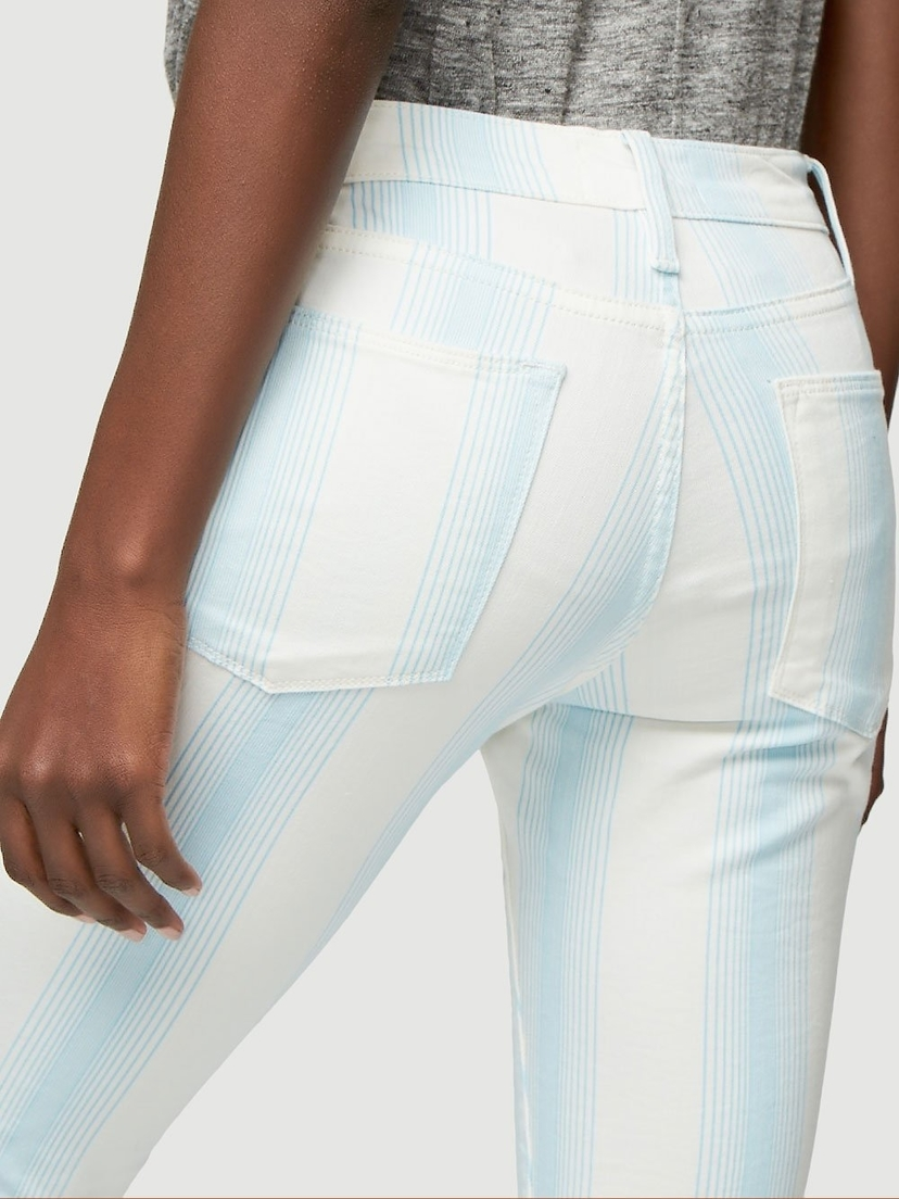 FRAME Le High Skinny Crop Ombre Stripe Pants Sale