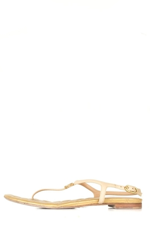 Chanel Chanel Beige CC Sandals 38 Shoes