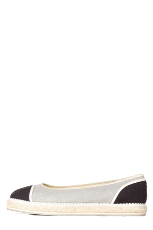 Chanel Chanel Grey Canvas Espadrille 41 Shoes