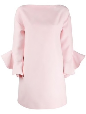 Valentino Valentino - Ruffle Trim Crepe Dress Dresses
