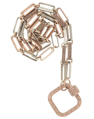 Marla Aaron Marla Aaron Rose Gold Meander Lock and Mixed Chain Jewelry