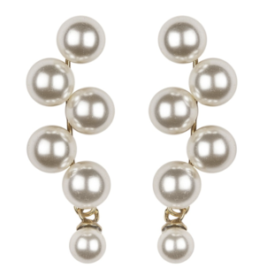 Jennifer Behr Marcella Pearl Earrings Jewelry