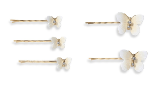 Jennifer Behr Chrysalis Bobby Pins in Champagne Accessories Jewelry