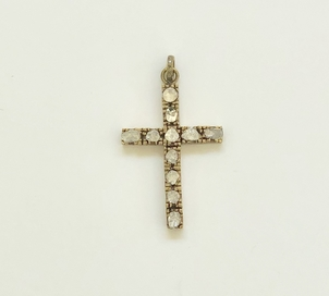 The Woods Fine Jewelry Large Pave Diamond Cross Pendant Jewelry