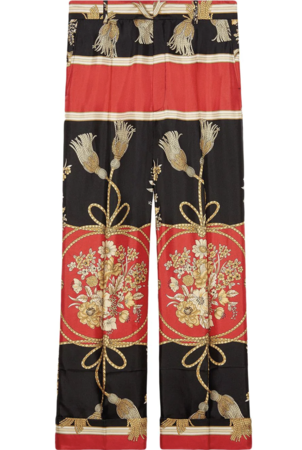 Gucci Printed Pant Pants