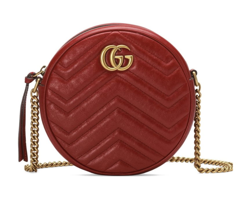 Gucci Red Quilted Round Shoulder Bag Bags