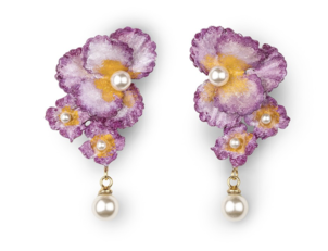 Jennifer Behr Sadira Earrings in Violet Jewelry