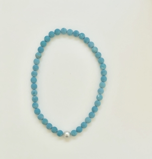 The Woods Fine Jewelry Turquoise Stretch Bead Necklace Jewelry