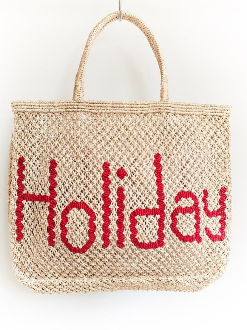 The Jacksons Holiday Word Bag LG Natural Bags Sale