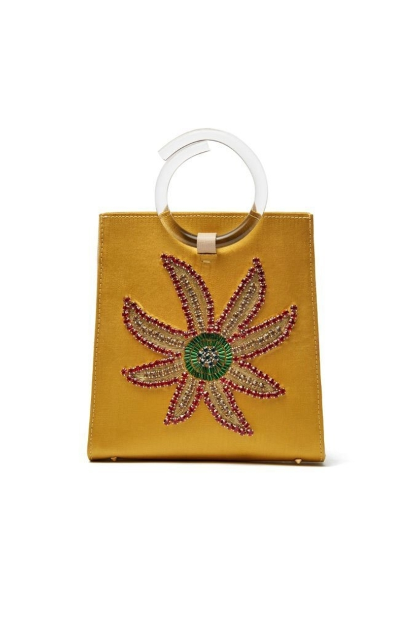 Lizzie Fortunato Pronto Purse In Crystal Flower Bags