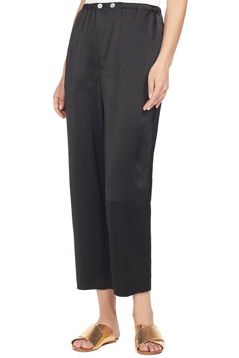 Forte Forte Shaded Satin Pants (Nero) Pants
