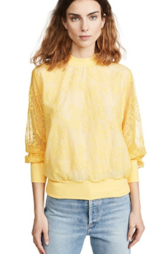Clu USA Knit Lace Sweatshirt