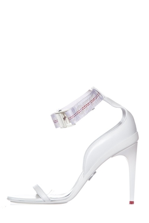 Off White Off White White Ankle Strap Detail Sandals SZ 9 Shoes