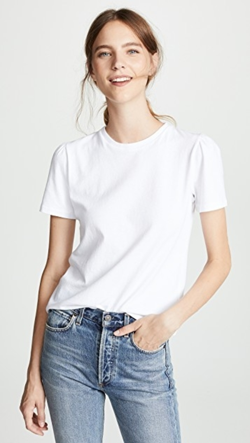 Citizens of Humanity Hannah Puff Sleeve in White Tops