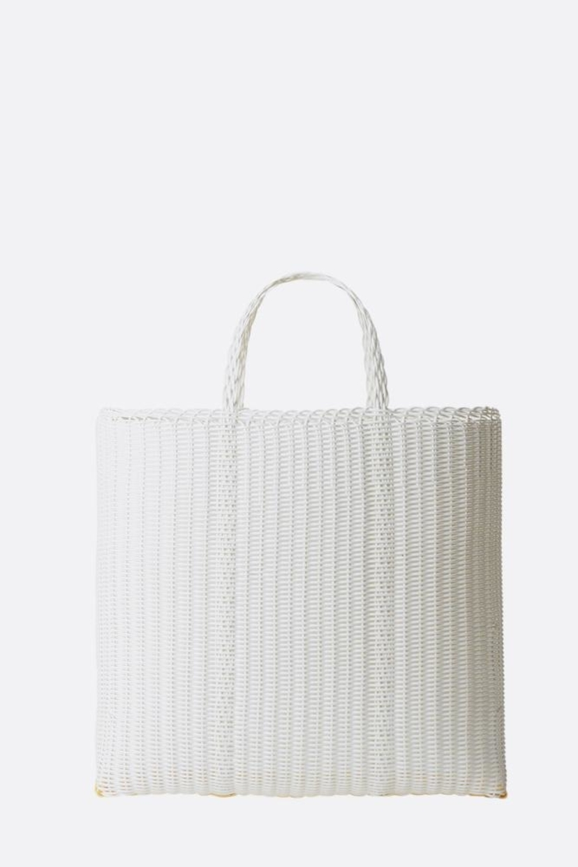 Palorosa White Large Flat Shopper Bags