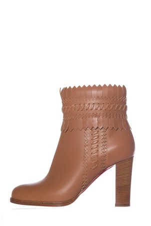 Christian Louboutin Christian Louboutin Tan Leather Ankle Boots SZ 37 Shoes