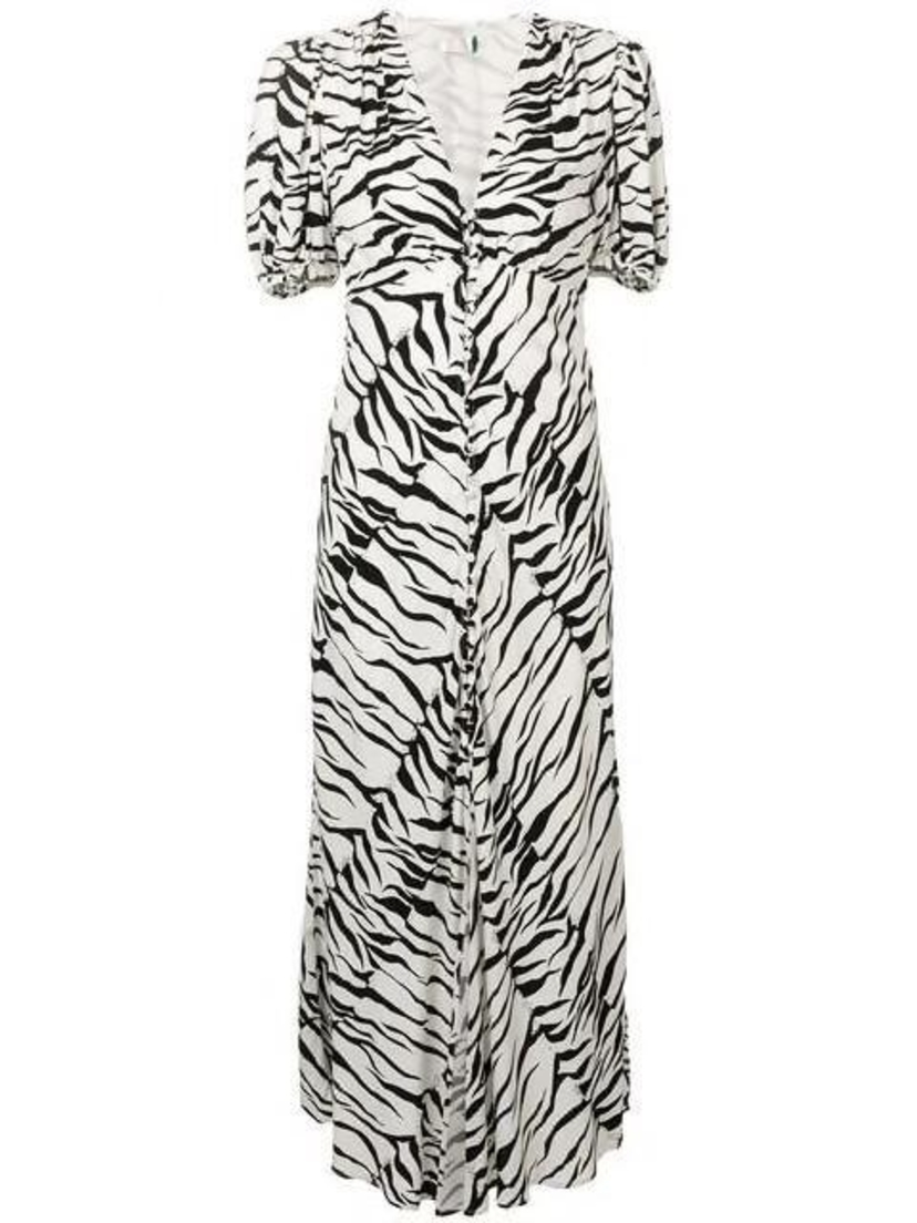 Kirna Zabête Tonya V Neck Tiger Midi Dress Dresses Sale