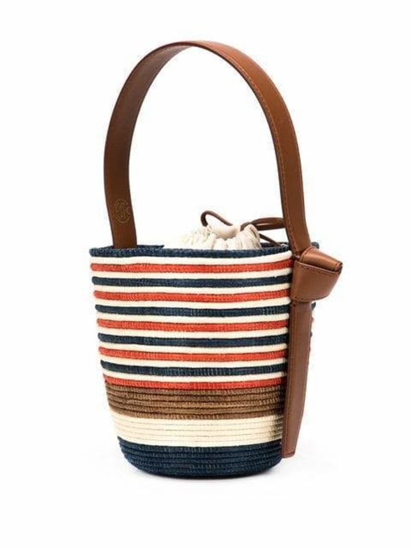 Cesta Collective Super Striped Lunch Pail Bucket Tote Bags Sale