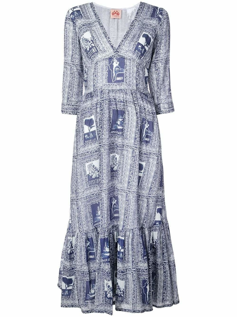Le Sirenuse Italy Print Full Dress Dresses Sale