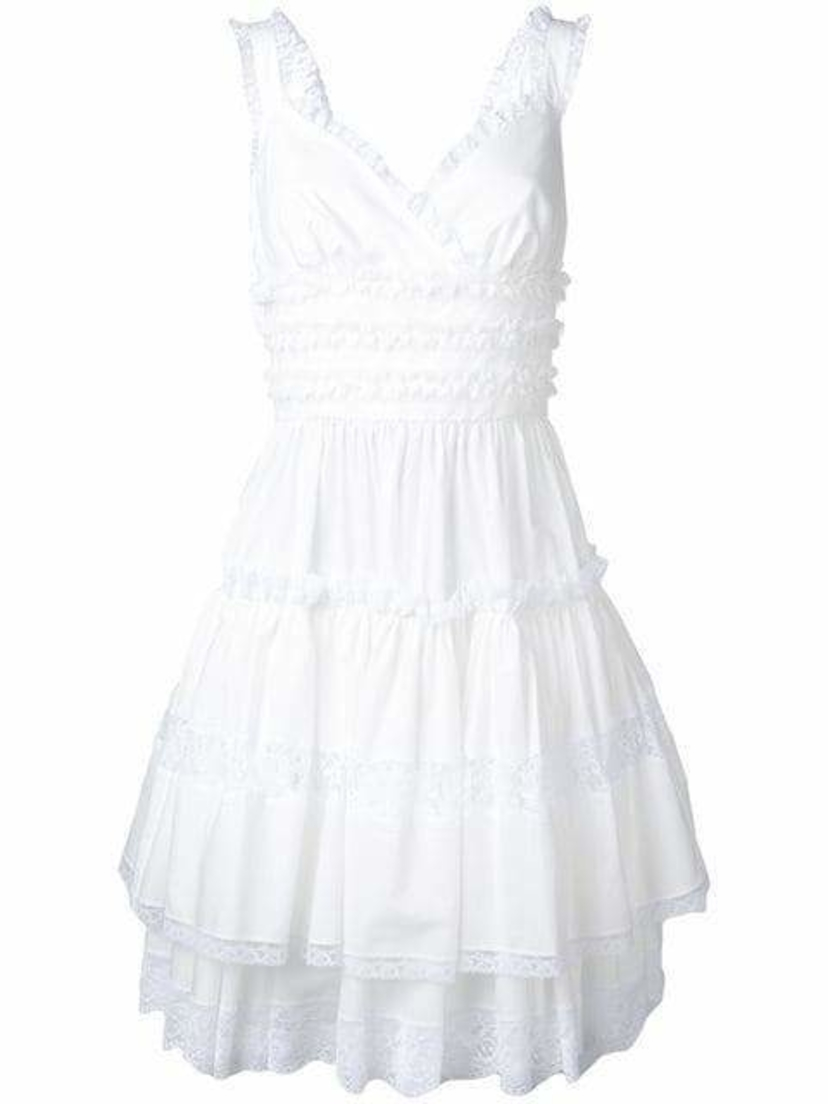 Dolce & Gabbana Sweetheart Ruffle Dress Dresses Sale