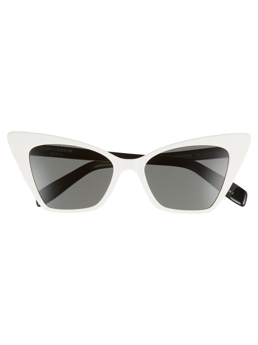 Saint Laurent White Retro Cat-Eye Sunglasses Accessories