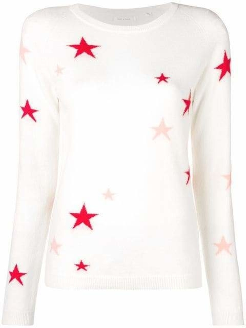 Chinti and Parker Star Embroidered Sweater Tops