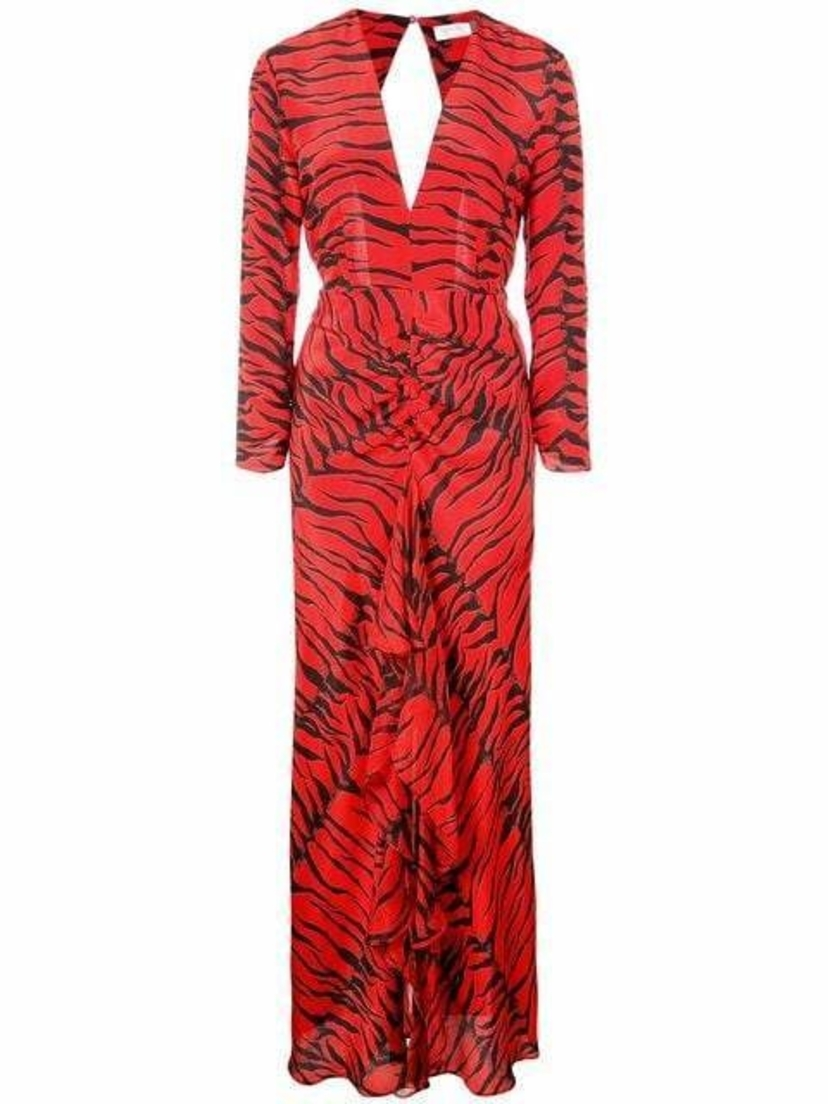 Rixo London Rose Zebra Print Dress Dresses Sale