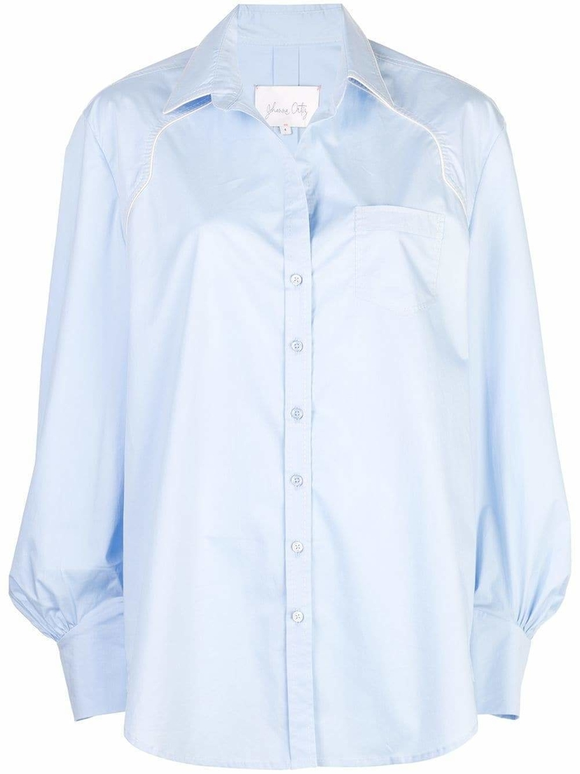 Johanna Ortiz Heavens Door Cotton Button Down Shirt Sale Tops