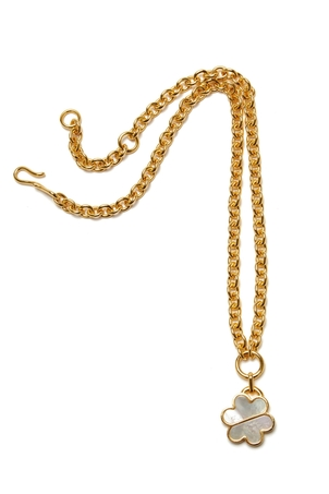 Lizzie Fortunato Daisy Chain Necklace In Mother Of Pearl Jewelry